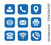 business icons set with blue... | Shutterstock .eps vector #1546186559