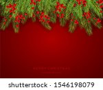 holiday decorations with fir... | Shutterstock . vector #1546198079