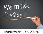 we make it easy   | Shutterstock . vector #154620878