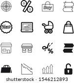 market vector icon set such as  ... | Shutterstock .eps vector #1546212893