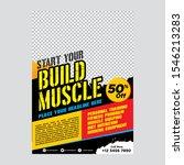 fitness center flyer   poster... | Shutterstock .eps vector #1546213283