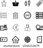 market vector icon set such as  ... | Shutterstock .eps vector #1546213679