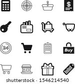 market vector icon set such as  ... | Shutterstock .eps vector #1546214540