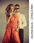 beautiful modern couple...   Shutterstock . vector #154621484