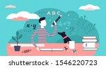 homework vector illustration.... | Shutterstock .eps vector #1546220723