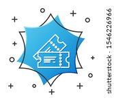 white line cinema ticket icon... | Shutterstock .eps vector #1546226966