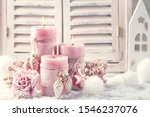 Pink Christmas Candles For...