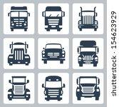 vector isolated trucks icons... | Shutterstock .eps vector #154623929