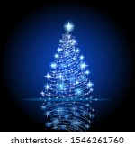 modern abstract christmas tree... | Shutterstock .eps vector #1546261760
