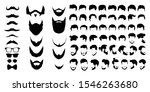 bearded icon set vector... | Shutterstock .eps vector #1546263680