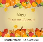 happy thanksgiving | Shutterstock .eps vector #154626953