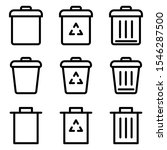set of trash icon. symbol of...