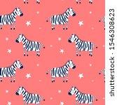 vector sketch zebra seamless... | Shutterstock .eps vector #1546308623
