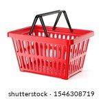 red plastic supermarket basket... | Shutterstock . vector #1546308719