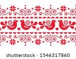 scandinavian christmas folk art ... | Shutterstock .eps vector #1546317860