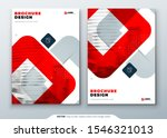 red brochure design. a4 cover... | Shutterstock .eps vector #1546321013
