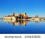 riga shipyard with two cargo... | Shutterstock . vector #154632830