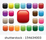 shiny round square   blank... | Shutterstock .eps vector #154634003