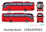 vector eps10   red coach bus...