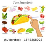 taco constructor with different ...   Shutterstock .eps vector #1546368026