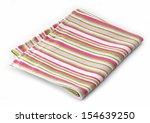 Striped Cotton Napkin Isolated...