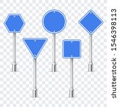 traffic road empty blue signs.... | Shutterstock .eps vector #1546398113