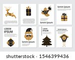 vector merry christmas greeting ... | Shutterstock .eps vector #1546399436