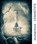 illustration girl in a... | Shutterstock . vector #1546407473