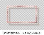 gold rose foil smudge frame....   Shutterstock .eps vector #1546408016