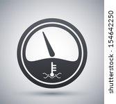 vector motor temperature gauge...   Shutterstock .eps vector #154642250