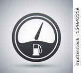 vector fuel gauge icon | Shutterstock .eps vector #154642256