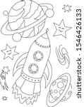 shuttle coloring page. space... | Shutterstock .eps vector #1546426133