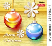 christmas decoration balls... | Shutterstock .eps vector #154646144