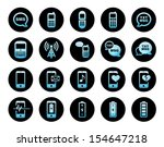 cell phone mobile phone icon... | Shutterstock .eps vector #154647218