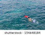 snorkeling to see coral and... | Shutterstock . vector #154648184