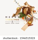 merry christmas and happy new... | Shutterstock .eps vector #1546515323