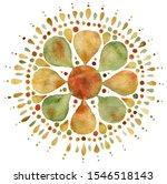 Autumn Mandala Illustration In...