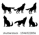 set with black silhouettes of... | Shutterstock .eps vector #1546522856