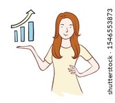 doodle sketch girl and growth...   Shutterstock .eps vector #1546553873
