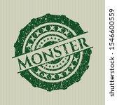 green monster distressed rubber ... | Shutterstock .eps vector #1546600559