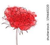 beautiful peonies flower....   Shutterstock . vector #154660220
