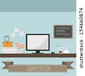workstation vector | Shutterstock .eps vector #154660874