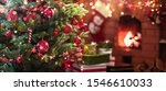 christmas tree with red balls... | Shutterstock . vector #1546610033