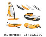 Boats Flat Vector Illustration...