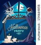 creepy skeleton. halloween... | Shutterstock .eps vector #154664858