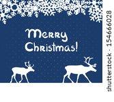 vector christmas blue greeting... | Shutterstock .eps vector #154666028