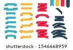 flat colorful ribbons banners... | Shutterstock .eps vector #1546668959