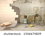 laying tiles on old and damaged ... | Shutterstock . vector #1546674839