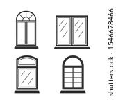 window icon vector sign...