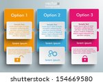 connected rectangles on the... | Shutterstock .eps vector #154669580